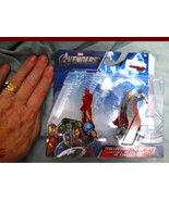 "IRON MAN THOR Avengers 2"" Action Miniature Marvel Comic Movie Boys Play ... - $8.01"