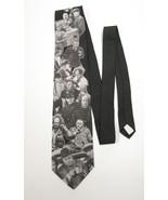 VTG The Three Stooges Wild West Antics Neck Tie Necktie Black White Made... - $12.86
