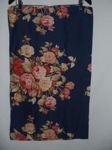 Set of 2 Ralph Lauren WINSLOW Floral Standard Pillowcases Sateen Navy Blue  - $65.23