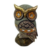 """6.5"""" Owl Statue Home Decor Colorful Collectible Figurine Statue Good Luck - $26.10"""