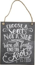 """Primitives by Kathy Chalk Art Hanging Sign, 8"""" x 10"""", Choose A Seat Not ... - $12.03"""