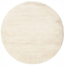 "Shaggy Sadeh - Off White rug  6'7"" (  200 cm) Modern, Round Carpet - $243.00"