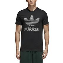 Adidas Men's Originals Traction In Action Trefoil Tee Black-White ce2240 - $37.95