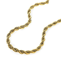 Thick Hip Hop 14k Gold Stainless Steel Donky Rope Chain - £13.62 GBP+