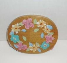 Longaberger WoodCrafts Floral Lid for 2008 Small Basket New  - $14.84