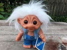 """NORFIN #6032 THOR White Haired Dam Troll Doll w Tag 7"""" - $79.15"""