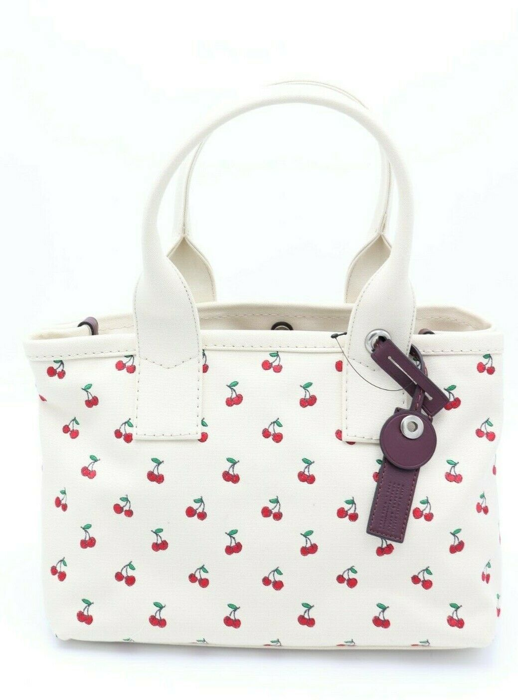 Primary image for NWT MARC by Marc Jacobs Cherry Fruit Embroidered Canvas Tote Shoulder Bag $278