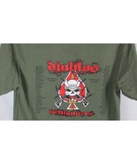 Men's t shirt Small army olive green Diablo 1 50 fighting guns skull on ... - $9.89