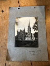ANTIQUE/VINTAGE PHOTO OF WEST FRONT AT SALISBURY CATHEDRAL (ENGLAND) A4-... - $6.36