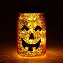 Enesco Department 56 Halloween Mason Jar LIT Pumpkin NEW - ₨1,415.76 INR