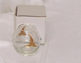 PartyLite Tuscany Votive Holder Handpainted 24K Gold Etched Glass P7138 - $9.85