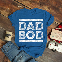 Dad Bod Faded Stripe Retro 80S Gold T-Shirt Birthday Funny Ideas Gift Vi... - $15.99+