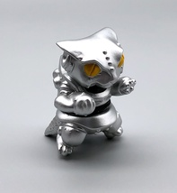 Max Toy Metallic Silver Mini Mecha Nekoron - Mint in Bag image 5