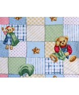 Blue Jean Teddy By Daisy Kingdom-Springs Ind.-Fat 1/4-Squares-Patchwork-... - $3.25
