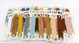 Embroidery Floss Lot, DMC Thread Wound on 35 Tidy Floss Holders - $16.00