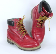 "Timberland Men's 6"" Premium Leather Waterproof Boots 9655B Red Mens 10 Authentic - $189.99"