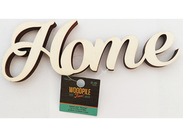 """Unfinished Wooden """"Home"""" Sign #1441393"""