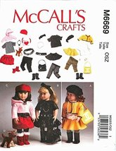 McCall's 6669 18 inch Girl Doll Clothes Pattern Boots Belt Dog Jacket Am... - $14.21