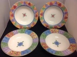 SangoTHE SWEET SHOPPE Set of 4 - 8 3/4'' Rimmed Soup Bowls - $17.42