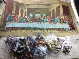 Margot de Paris Tapestry/Needlepoint Canvas Wool The Last Supper (La Ste... - $280.49