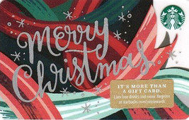 Starbucks 2018 Merry Christmas Collectible Gift Card New No Value - $4.99
