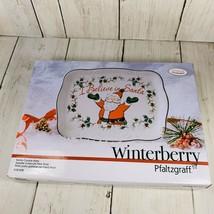 "Pfaltzgraff Winterberry ""I Believe in Santa"" Cookie Plate, NEW - $19.79"
