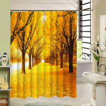Cute Fabric Bath Curtain Polyester Waterproof 3d Printing Tree Shower Curtain in image 1