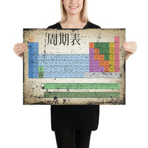 Japan Japanese Periodic Table Of The Elements Vintage Chart Poster - $11.88+