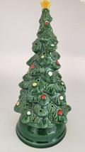 "Vintage 8 1/2"" AVON Ceramic Tea Light Christmas Tree with Base - $9.99"