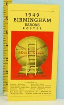 1949 Birmingham Barons Roster Book - Dixie Champs Red Sox Farm Club - $48.51
