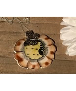 Recycled Porcelain Jewelry, Vintage Collection, Large Mexican Pottery Pe... - $35.64