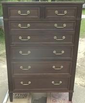 HERITAGE HENREDON Highboy Dresser-6 Drawers-2 Sm.Drawers+4 Lg;Dovetailed... - $749.99