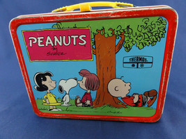 Peanuts Metal Lunch Box Vintage 1973 Psychiatric Help  No Thermos - $57.00