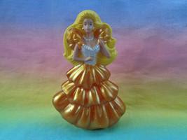 Vintage 1992 McDonald's Mattel Gold Dress Barbie Plastic Figure - as is scraped - $1.87