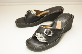 Born Size 11 Black Slide Wedge Sandals Women's - $38.00