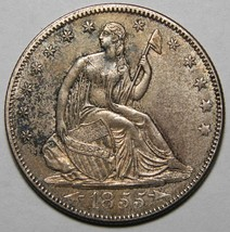 1855 Seated Silver Liberty Half Dollar 50¢ Coin  Lot# EA 2