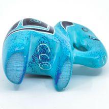 Crafts Caravan Hand Carved Sky Blue Soapstone Elephant Figurine Made in Kenya image 5