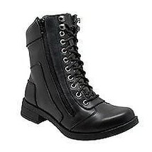 Women's Zipper Biker Apparel Leather Shoes Rider Daniel Smart Motorcycle... - $119.95