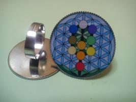 Tree of life Sacred Flower Of Life ring. Mandala, Kabbalah, seed of life... - $22.22