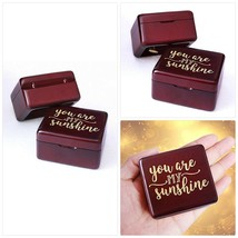 You are My Sunshine Music Box Vintage Wood Carved Mechanism Musical Box ... - $36.65