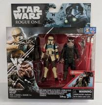 "Star Wars Rogue One Shoretrooper Captain & Bistan 3.75"" Action Figure Se... - $17.05"