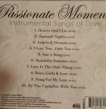 Passionate Moments Instrumental Songs Of Love Cd  image 2