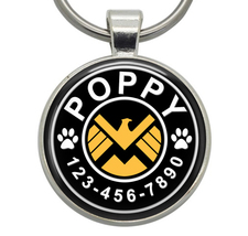 Pet ID Tag - SHIELD (Marvel) - Dog ID Tag, Cat ID Tag, Pet Tag, Dog Tag,... - $19.99