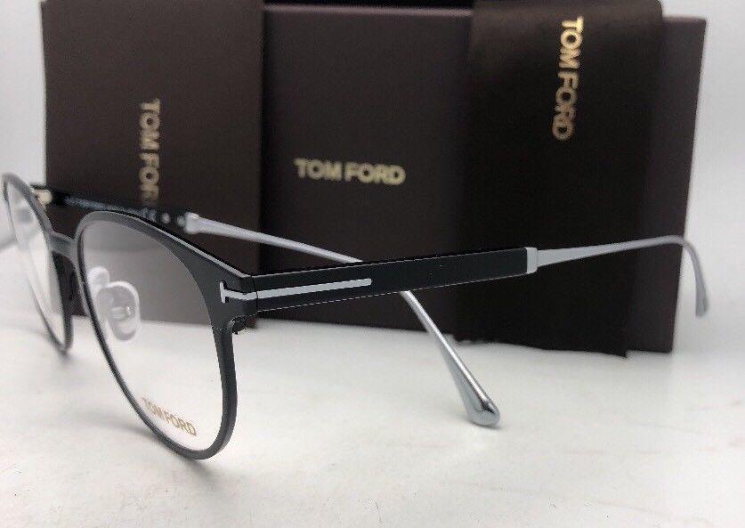 New TOM FORD Classic Eyeglasses TF 5482 001 50-21 Black & Silver Titanium Frames image 6
