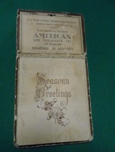 "Vintage 1938 CALENDAR ""Season Greetings"" AMERICAN LIFE CO. Birmingham,Al. - $14.44"