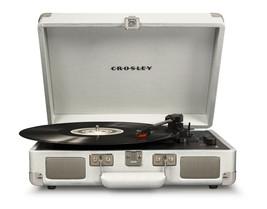 Crosley CR8005E-WS Cruiser Portable Bluetooth Turntable Record Player White Sand - $64.30