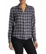 Frank & Eileen Barry Plaid Long Sleeve Button Down Shirt XS - $83.22