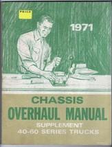 1971 Chevrolet 40-60 Series Trucks Chassis Overhaul Manual Original St 334-71 - $24.70