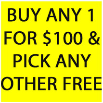 MON-TUES DEAL PICK ANY ONE FOR $100 & CHOOSE ANY OTHER ONE FREE DEAL BEST OFFERS - Freebie