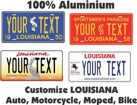 Louisiana Custom Personalized Car Motorcycle Moped Bike Bicycle License ... - $10.99+
